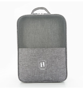 New type of cationic multi-function portable with trolley mesh shoe bag grid shoe bag Nylon bags