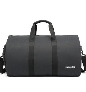 New suit storage bag waterproof Oxford 55L unisex grey suit travel sports bag