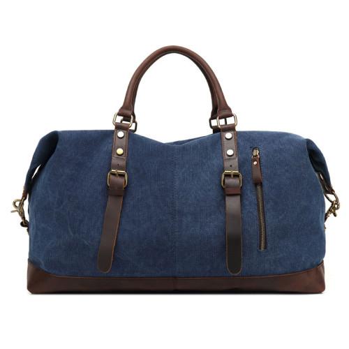 Hot selling waterproof bags big capacity blue canvas vintage travel duffel bag Polyester bags
