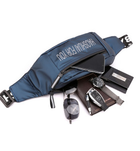 OMASKA custom logo waist bag for men Messenger Chest Bags waterproof sports nylon chest bag