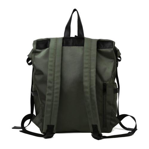 Backpack roll top fashion leisure bag oxford knapsack high capacity minimalist backpack