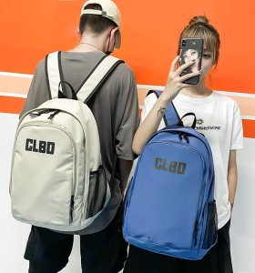BSCI factory new fashion design canvas material high school students backpack bag