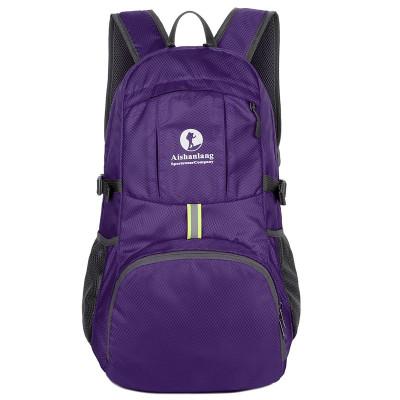 Lightweight packable nylon sport foldable backpack