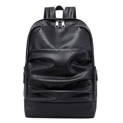 OMASKA Custom waterproof laptop men women black pu leather backpack