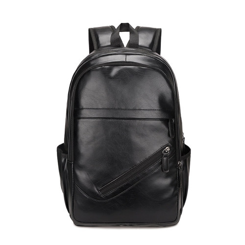 Custom logo waterproof large pu leather backpack for women and men