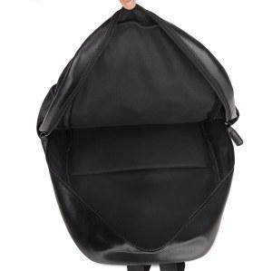 OMASKA custom logo waterproof large pu leather backpack for women and men