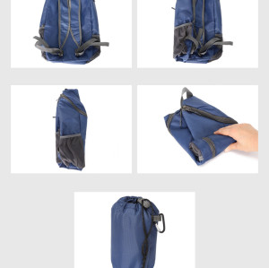 Wholesale waterproof travel Bag folded backpack lightweight folding backpack