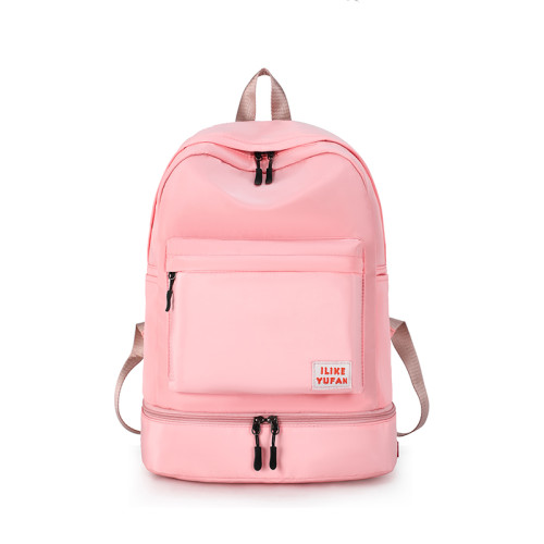 2020 sport Waterproof shoulder backpack polyester traveling Polyester wet dry bag with swimming