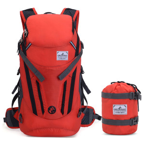 Promotional Camping Hiking reflective foldable decron waterproof bags outdoor backpack traveling bag