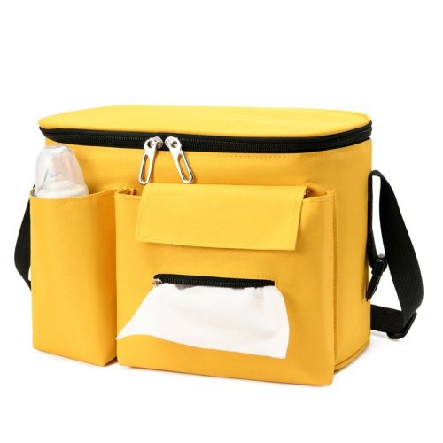 Simple design cheap price mommy bags custom logo mini diaper tote bag