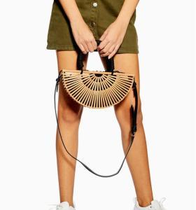 Amazon Ins hot sale semicircular bamboo bag lady handbag