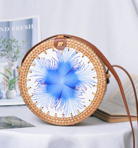 2021 new designs woven ladies handbags bali rattan bags