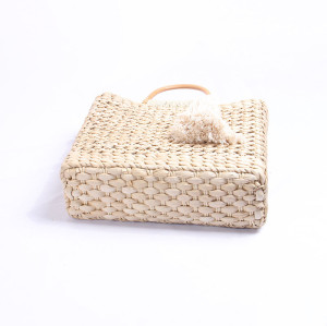 Winter woven straw hand bag simple design lady hand bag