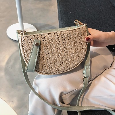 New wholesale women straw shoulder crossbody bag