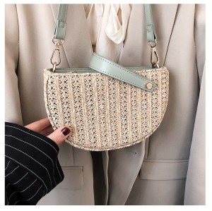 New wholesale women straw shoulder crossbody bags
