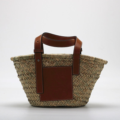 Women Straw Bag Weave Handbags Handwoven Tote Summer Beach Bag Natural Chic