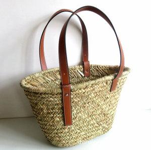 Women Straw Bag Weave Handbags Handwoven Tote Summer Beach Bag Natural Chic
