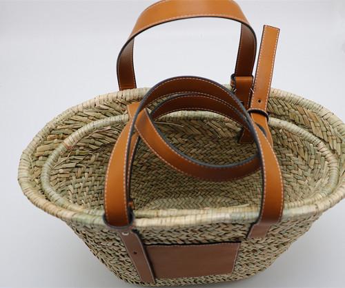 Women Straw Bag Weave Handbags Handwoven Tote Summer Beach Bag Natural Chic Handbag