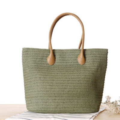 Women noble beach bag straw handmade bag straw in stock