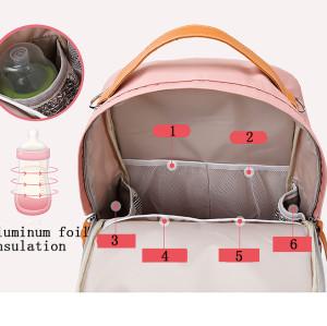 Multifunction travel waterproof mommy bag 2 in 1 diaper bag Leisure backpack