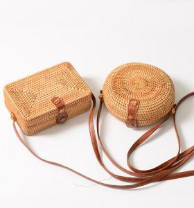 Vietnam vintage rattan beach bag natural rattan round bag