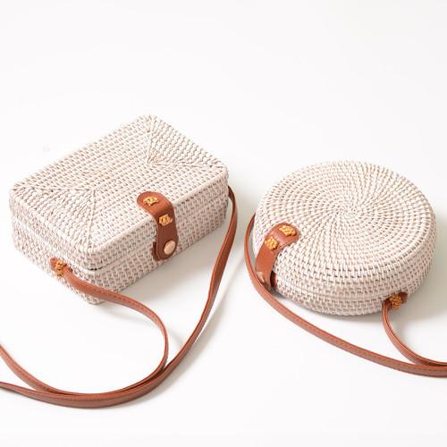 Vietnam vintage rattan beach bag natural rattan round bags