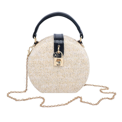 Wholesale handmade straw clutch bags for girls Lady's handbag Champagne Backpack straw bags