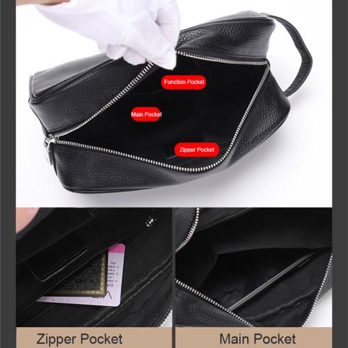 New Trending Men Cowhide Clutch Bag for Men bags  Genuine Leather bags
