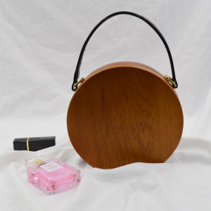 Unique Fashionable Women's Wooden Handbag Small and Exquisite Clutch
