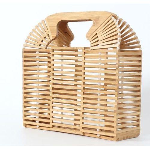Bamboo clutch bag bamboo beach bag handles for women