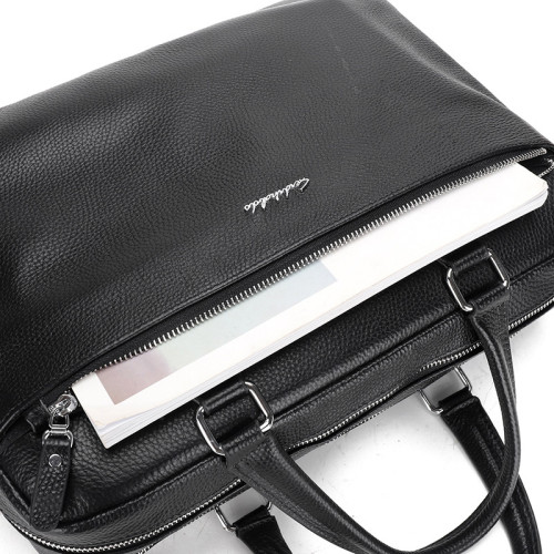 Waterproof Men Genuine Leather Briefcase Stylish Men Daily Laptop Sling Bags