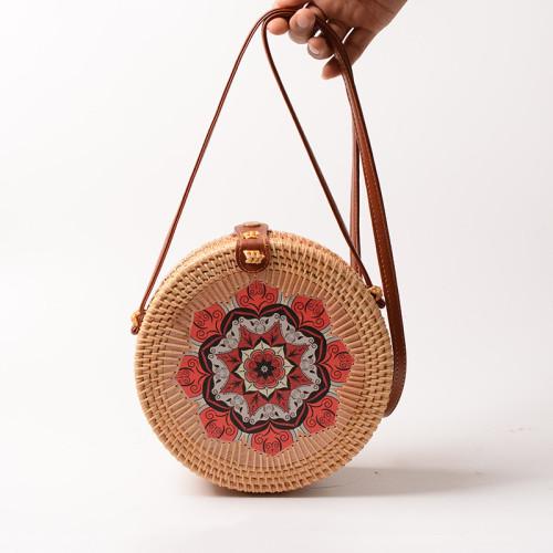 2021 new handmade rattan sling bag beach bags