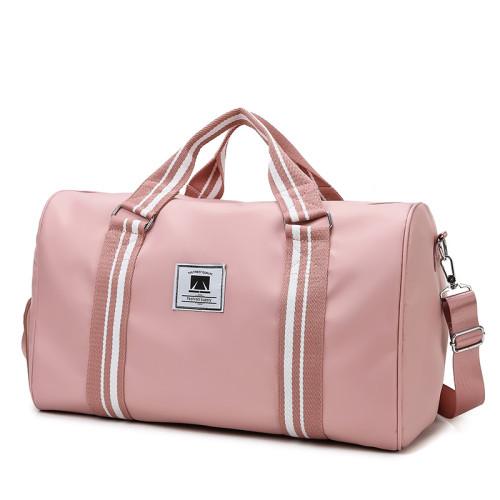Lightweight large capacity duffel handbag fashion sports gym bag with shoe pocket