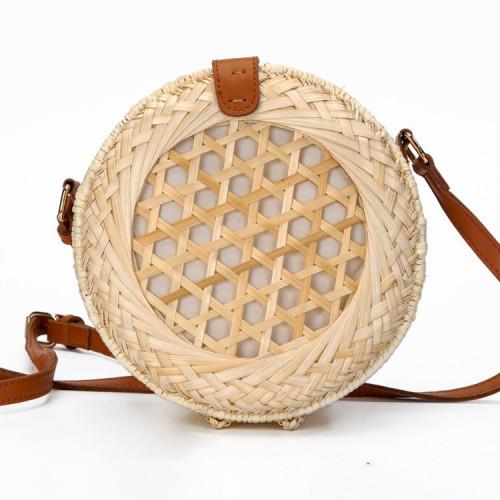 2021 new spring summer handmade crochet bamboo handbag