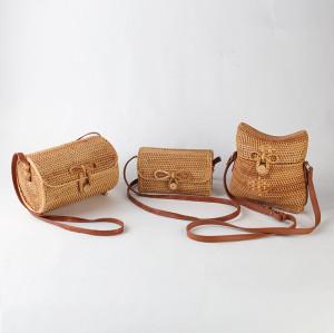 Vintage handmade wholesale rattan bag from Vietnam
