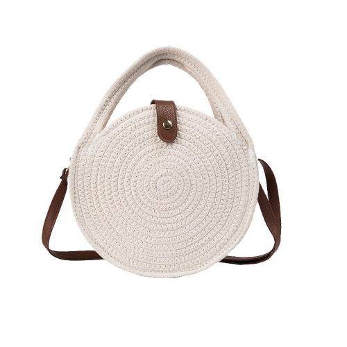 Ins hot summer beach handmade straw bag round beach bag