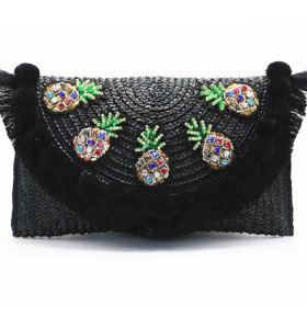 Handmade Lady fashion rattan bag straw bag clutch bag for lady