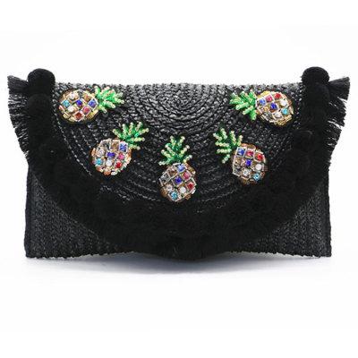 Handmade Lady fashion rattan bag straw bag clutch bag for lady