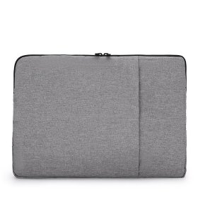 Simple grey color laptop bag different size women business style laptop bag clutch bag