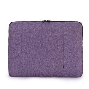 Simple grey color laptop bag different size women business style laptop bag clutch bag