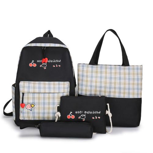 School Bag Back Support Backpack 2021  For Child Pink Prince Black Green Waterproof Geometric Blue