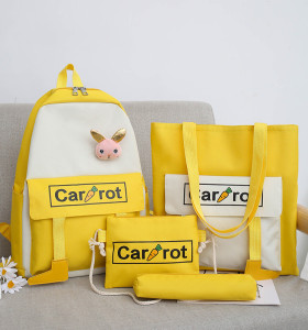 School Bag Backpack Printing Nylon Rainbow Waterproof Custom Unisex Customized Logo Style Time