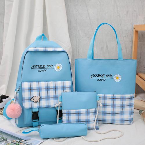 School Bags Backpack Cute Cartoon Yellow Kids Children Unisex Oem Customized Logo Time Packing