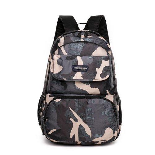 Camouflage color college students school bags large boys backpack waterproof bag