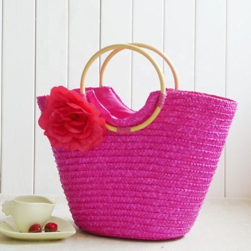 Wheat Straw Beach Bag Tote Bohemian tote basket bag women ladies hand bags