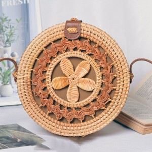 New designs rattan clutch bag woven beach handbag