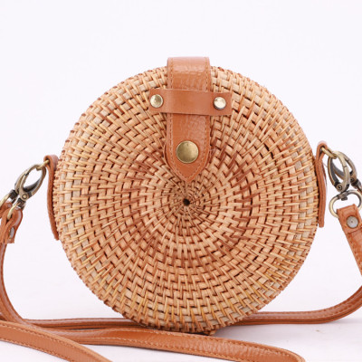 Custom desgin rattan bag two way shoulder strap rattan bag