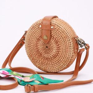 Custom desgin rattan bag two way shoulder strap rattan bag