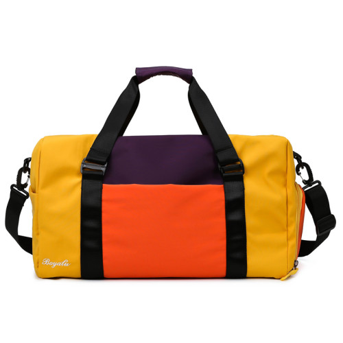 Fashion design waterproof sport duffel bags custom gym bag with shoe compartment
