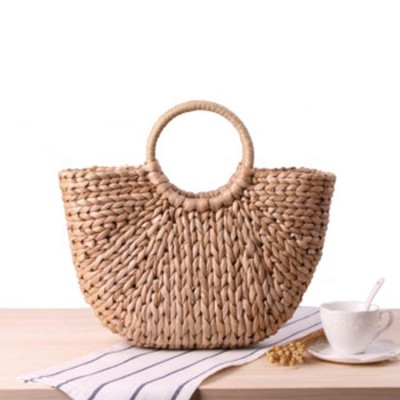Low price summer beach bag handmade wholesale straw bag tote women handbags